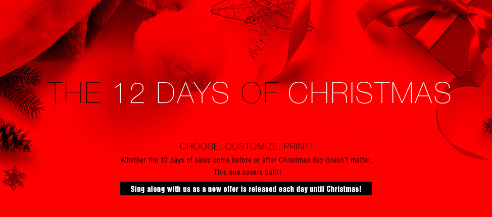 The 12 Days of Christmas  - Choose. Customize. Print!