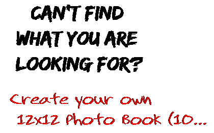 Can't find  what you are  looking for? Create your own  12x12 Photo Book (10...