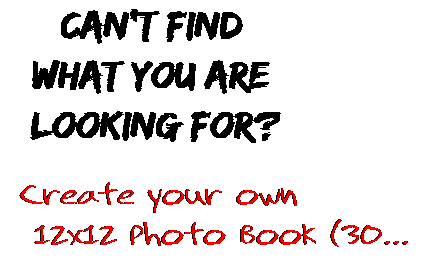 Can't find  what you are  looking for? Create your own  12x12 Photo Book (30...