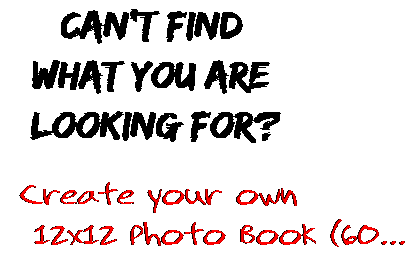 Can't find  what you are  looking for? Create your own  12x12 Photo Book (60...
