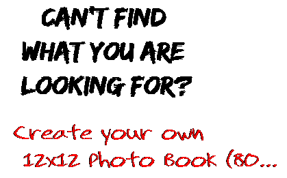 Can't find  what you are  looking for? Create your own  12x12 Photo Book (80...