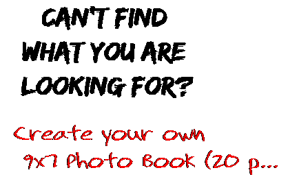 Can't find  what you are  looking for? Create your own  9x7 Photo Book (20 p...