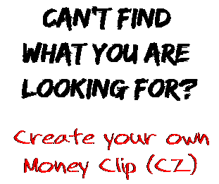 Can't find  what you are  looking for? Create your own  Money Clip (CZ)