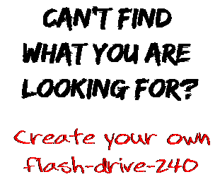 Can't find  what you are  looking for? Create your own  flash-drive-240