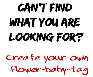 Can't find  what you are  looking for? Create your own  flower-baby-tag