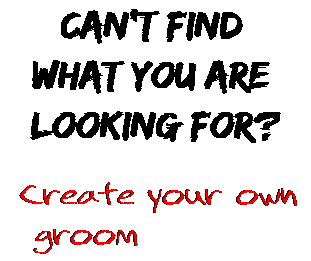 Can't find  what you are  looking for? Create your own  groom