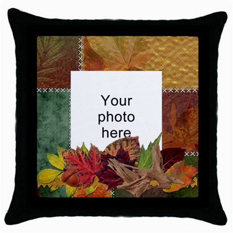 Autumn Throw Pillow Case By Lil Front