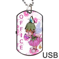 Pink Fairy Usb Dog Tag Flash (two Sides) By Kim Blair Front