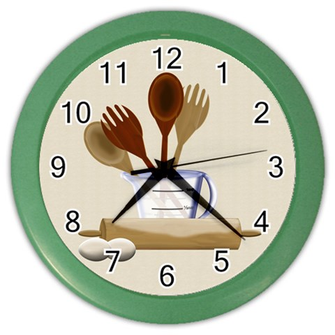 Kitchen Clock Purple By Chere s Creations Front