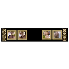 Balck And Gold Flano Scarf (small) By Deborah Front
