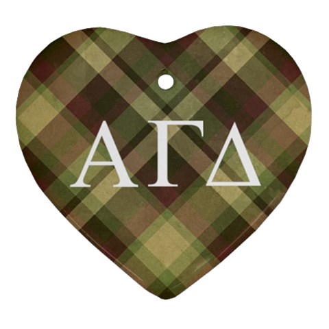 Alpha Gamma Delta Ornament By Klh Front