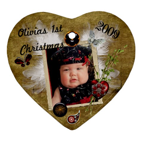Olivia s 1st Christmas Ornament 2009 By Kate Front
