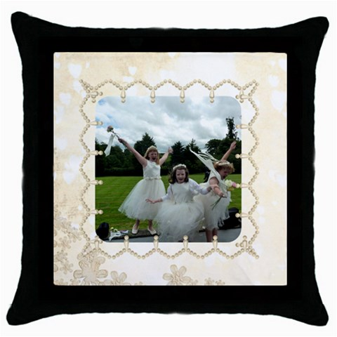 Pearl Border Cushion Cover By Catvinnat Front