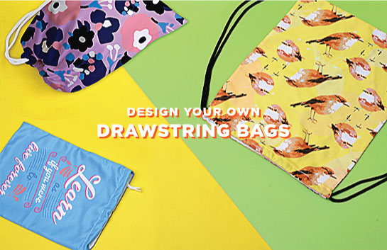 Design your own Drawstring Bags
