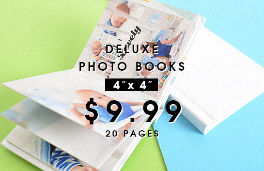 Design your own: 4x4 deluxe photo books