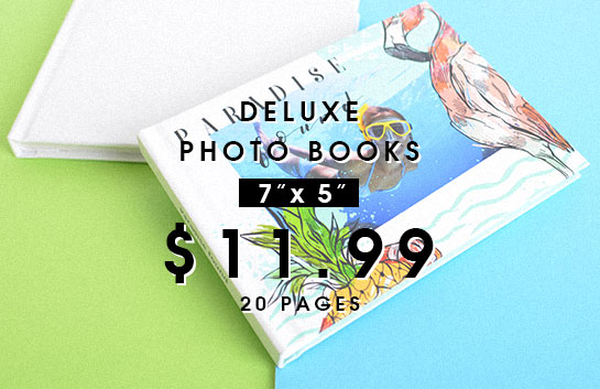 Design your own: 7x5 deluxe photo books