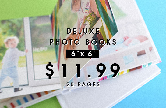 Design your own: 6x6 deluxe photo books