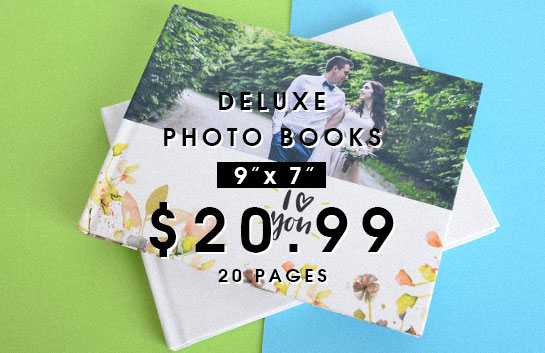Design your own: 9x7 deluxe photo books