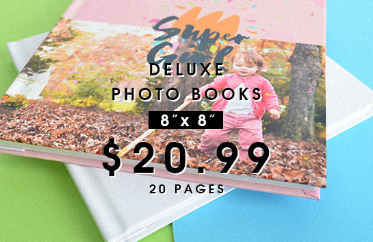 Design your own: 8x8 deluxe photo books