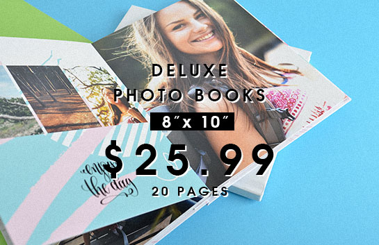 Design your own: 8x10 deluxe photo books