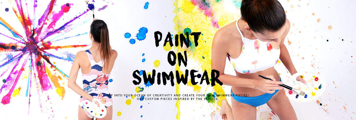 Custom Paint on Swimwear