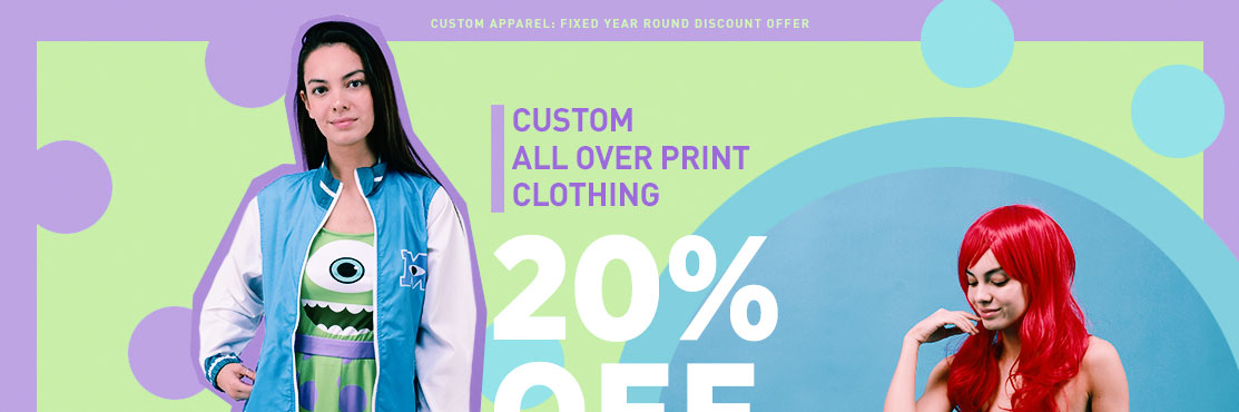 Custom Apparel: Fixed Year Round Discount Offer