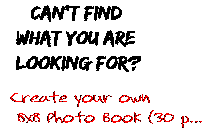 Can't find  what you are  looking for? Create your own  8x8 Photo Book (30 p...