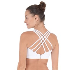 Cross String Back Sports Bra