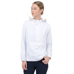 Women Hooded Front Pocket Windbreaker