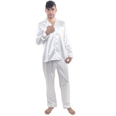 Men s Long Sleeve Satin Pyjamas Set