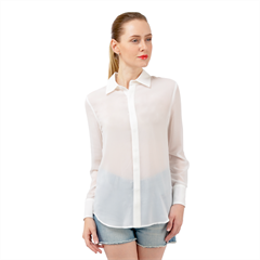 Long Sleeve Chiffon Shirt