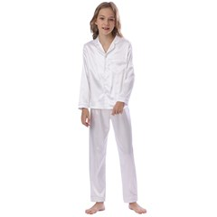 Kid s Satin Long Sleeve Pajamas Set