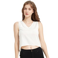 V-Neck Cropped Tank Top