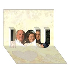 I Love You 3D Greeting Card (7x5)