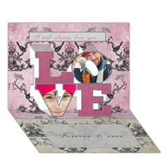 LOVE 3D Greeting Card (7x5)
