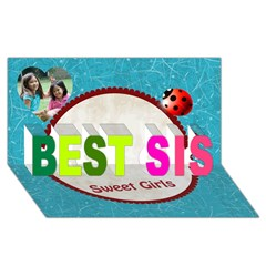 BEST SIS 3D Greeting Card (8x4)
