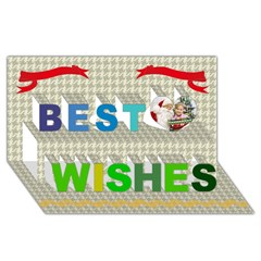 Best Wish 3D Greeting Card (8x4)