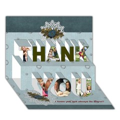 THANK YOU 3D Greeting Card (7x5)