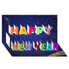 Happy New Year 3D Greeting Card (8x4)
