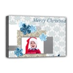 merry christmas, happy new year, xmas - Deluxe Canvas 18  x 12  (Stretched)