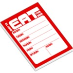What to eat - menu planner red - Large Memo Pads