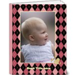 Pink Plaid Deluxe 9x12 Book (20 pages) - 9x12 Deluxe Photo Book (20 pages)