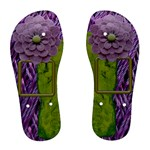 Purple Green Symmetric women flop flop - Women s Flip Flops