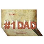 Country Dad 3D Card - #1 DAD 3D Greeting Card (8x4)