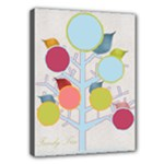 Colorful Family Tree (boyish) 16x12 Canvas - Canvas 16  x 12  (Stretched)