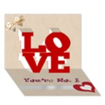 father s day card 2 - LOVE 3D Greeting Card (7x5)
