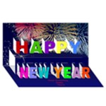 My Happy New Year 3D Card - Happy New Year 3D Greeting Card (8x4)