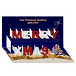 Village Merry Christmas 3D Card - Merry Xmas 3D Greeting Card (8x4)