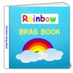 Dulux 8X8 Rainbow Brag Book - 8x8 Deluxe Photo Book (20 pages)