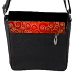 Red Classic Flap closure Messenger Bag (small) - Flap Closure Messenger Bag (S)